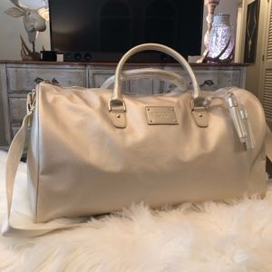 MICHAEL KORS Gold Weekender Duffel Travel Bag BNWT